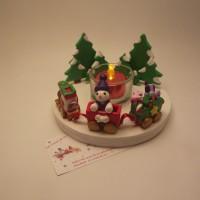 Déco de table de Noel avec son train,