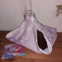 Sac à tarte violet, sac à plat violet