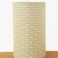 lampe tube motif géométrique tissu riad or