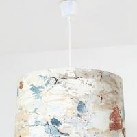 suspension abat jour motif motif mur décrépi
