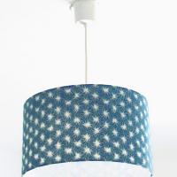 suspension abat jour motif japonais bleu futon