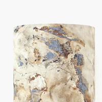 abat jour motif minéral imitation granit marbre Ø 20 cm
