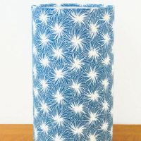 lampe tube motif japonais bleu futon