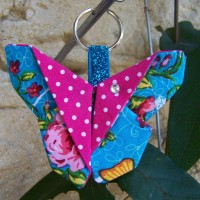 Porte-clé papillon origami