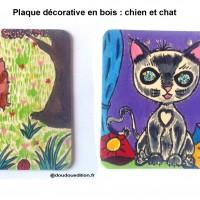 Plaque de porte pour enfants : chat et chien !