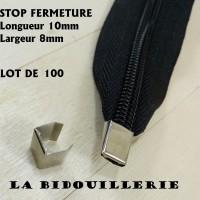 30 ou 100 Arrets Argentés pour Fermetures Sacs 6 mm , stop fermeture