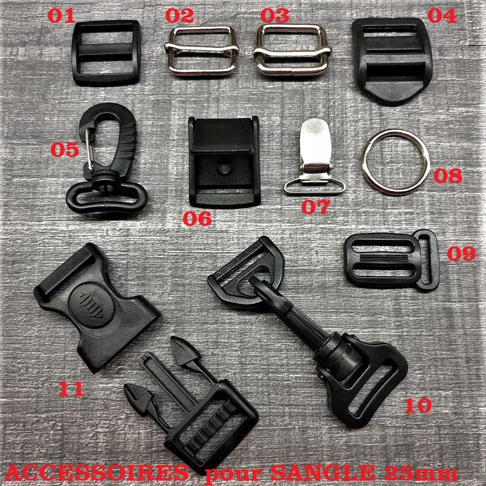 SM SunniMix Boucle de Sangle en Plastique /à Ouverture Clip Fermoir Boucle Clips 38 20//25 50mm
