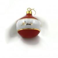 Boule de Noël porcelaine personnalisée