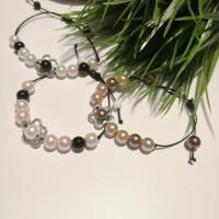 Bracelets réglables en perles
