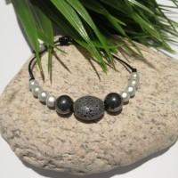 Bracelet en perles hématites