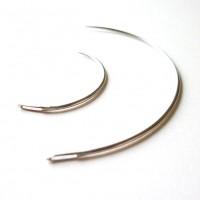 Aiguilles courbes LOT X 2 -  taille 2 et 4  - 6.5 cm et 3 cm d'arceau