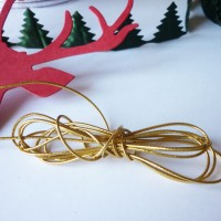 Cordon élastique doré 1 mm,  vendu en lot X 2 mètres