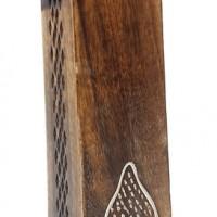 Porte encens pour bâtonnet et cône en bois dessin bouddha