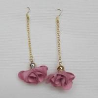 Boucles d'oreilles fleur vieux rose