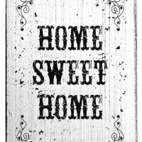 Tampons bois Colop Home Sweet Home Vintage Rubber Stamps