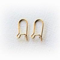 Supports crochets dormeuses boucles d'oreille, plaqués Or 24 K, une paire