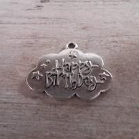 Une Breloques Happy Birthday Argenté