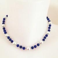 Collier Lapis Lazuli noué à la main