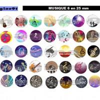 PLANCHE D'IMAGES DIGITALES  MUSIQUE 6 en 25 mm