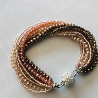 Bracelet perles Orangé