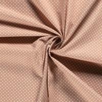 Tissu popeline POIS CAMEL - vendu par 25 cm