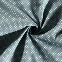 Tissu popeline POIS VERT DE GRIS - vendu par 25 cm