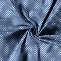 Tissu popeline POIS BLEU INDIGO - vendu par 25 cm