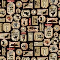 Tissu ETIQUETTES NEVERMORE  -  Timeless Treasures