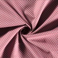 Tissu popeline POIS ROSE ROMANCE - vendu par 25 cm