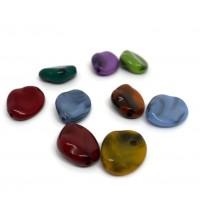 20 perles 16x13x6 mm acryliques imitation pierre  mélange de couleur  ( PA8-14)