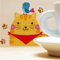 Stickers Muraux Stickers Interrupteur Chat Animaux 12*16
