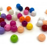 50 perles 8mm acryliques mélange de couleur  ( PA8-17)