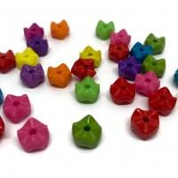 50 perles 8mm acryliques mélange de couleur  ( PA8-18)