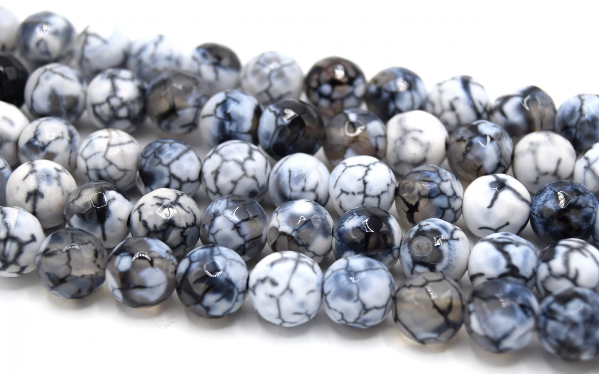 Agate blanche perles ovale env 7 x 9mm-7 x 12 mm mèche de 30+