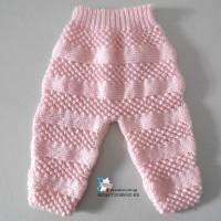 PANTALON bébé, 1 mois,  mousse et astrakan, calinou barbapapa rose en  layette tricot bb modèle tricot bébé tricoté main