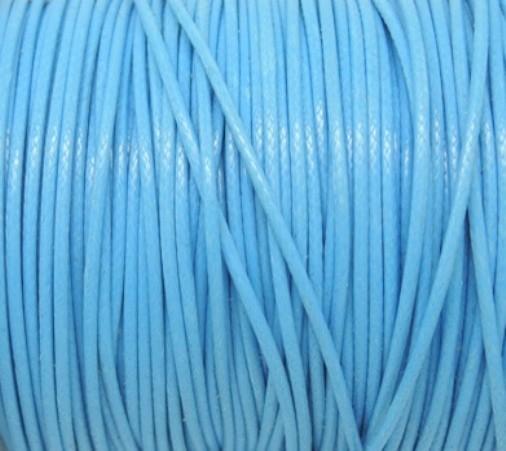 Cordon de Coton Ciré 1mm Bleu Roi 5 Mètres 8741140014848