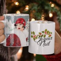 Mug de Noël - femme des années 60 vintage -