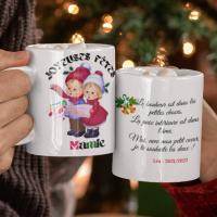 mug cadeau de noël pour marraine, parrain, papy, mamie, tatie tonton 2 FACES
