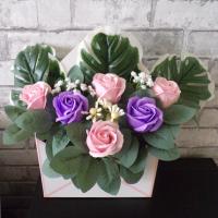 Enveloppe avec roses
