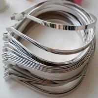 LOT de 5 pcs - SERRE TÊTE CHEVEUX en métal argenté ** 38 cm / épaisseur 6 mm ** SUPPORT à CUSTOMISER, DÉCORER