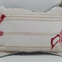 Eponge lavable et réutilisable en coton et molleton   Poules & coqs rouges