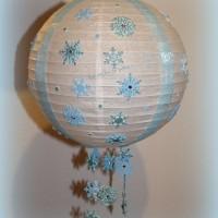 suspension boule chinoise blanche personnalisable et unique