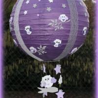 suspension boule chinoise violette personnalisable et unique
