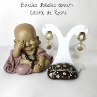 Boucles d'oreilles donuts en pierre naturelle