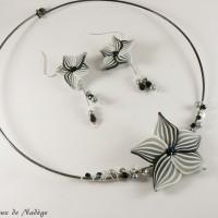 Collier Simplicité en dégradé noir et blanc