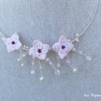 Collier de mariage fleurs de cerisier ,modèle douceur