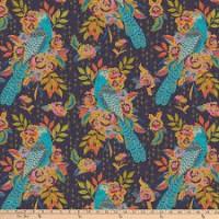 Tissu patchwork gris avec oiseaux , New Vintage, Free Spirit, Kathy Doughty