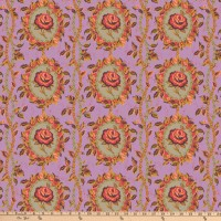 Tissu patchwork rose  lilas médaillons , New Vintage, Free Spirit, Kathy Doughty