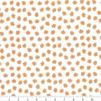 Tissu Halloween blanc et orange petites citrouilles, Holidays Essentials Pumpkin, Moda Fabric