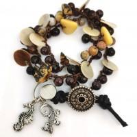 Bracelet ou collier bohème pierres naturelles